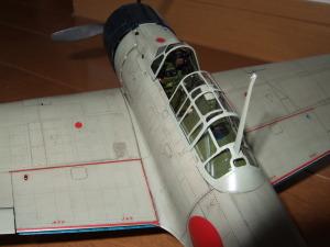タミヤ1/32零戦21型操縦席