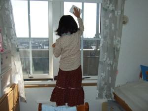 窓ふきのお手伝い