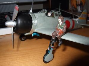 タミヤ1/48零戦21型と西澤飛曹長
