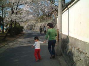 ある春の日、桜を見に行く ガイ子&春海