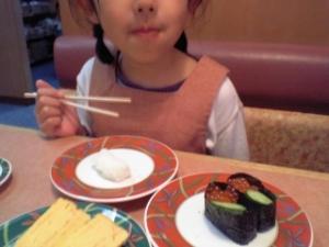 卒園祝いにまた回転寿司(-_-;)