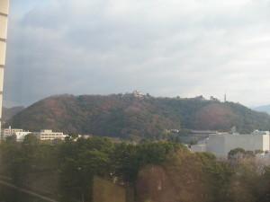 伊予松山城遠景