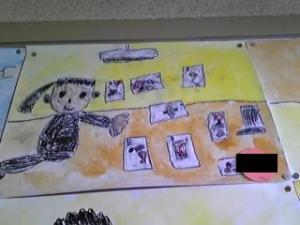教室に飾ってあった春海の作品